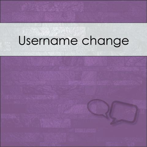 How can I change my username?