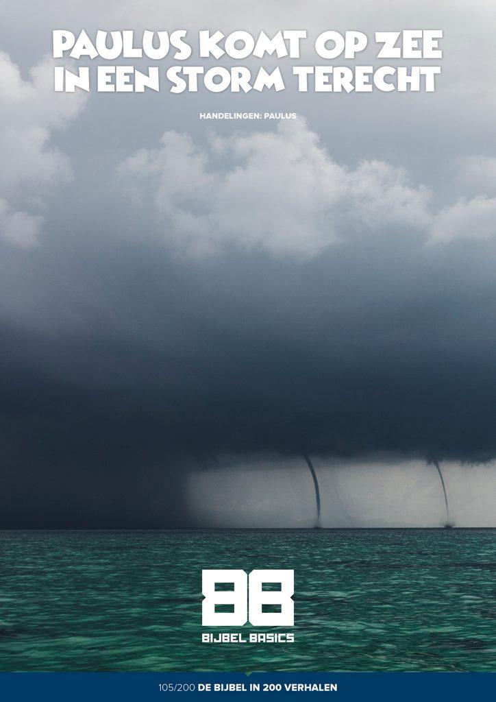 Paulus komt op zee in een storm terecht